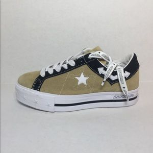 🛍 CONVERSE ONE STAR PLATFORM OX SHOES Wood Ash/W/